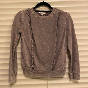 Anthropologie Pullover sweatshirt with ruffles, XS